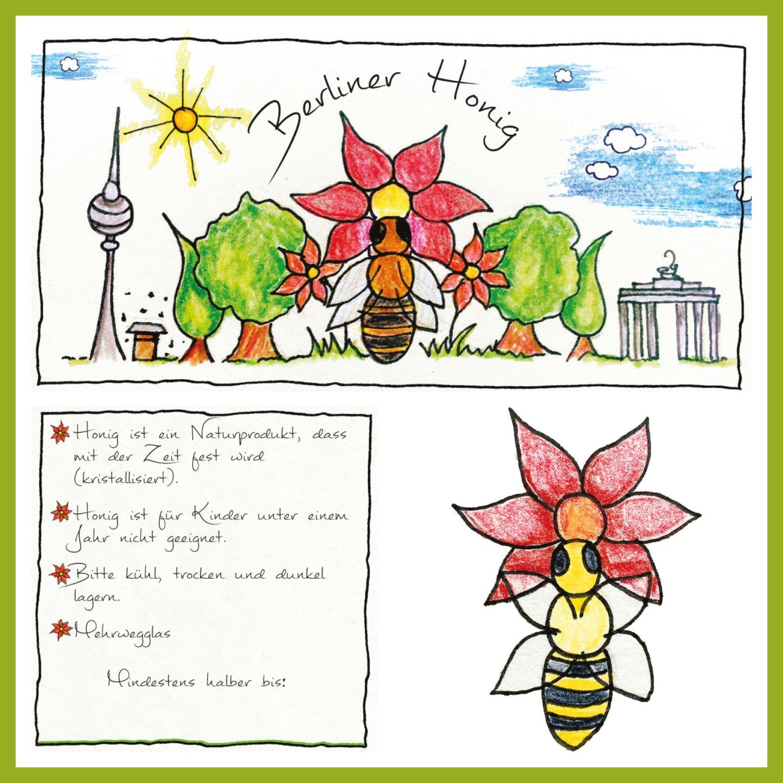 Auftragsarbeit - Honigglasetikett