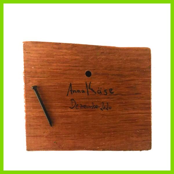 Glücksbaustein - Rückseite Signatur