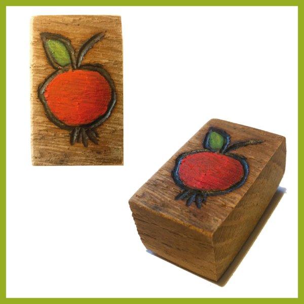 Glücksbaustein - Apfel