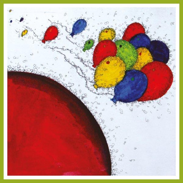 Radierung - Weltenviertel - Ballons