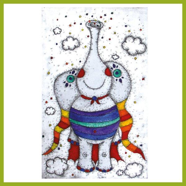 Radierung - Ein Schmetterfant ist super!