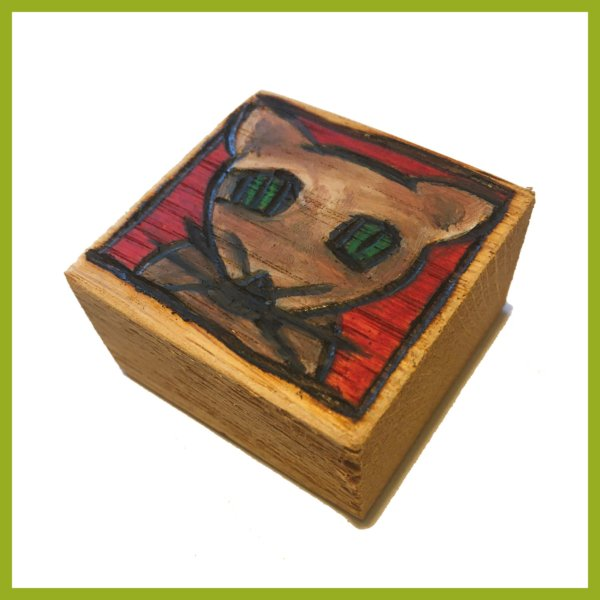 Glücksbaustein - Katzenkopf