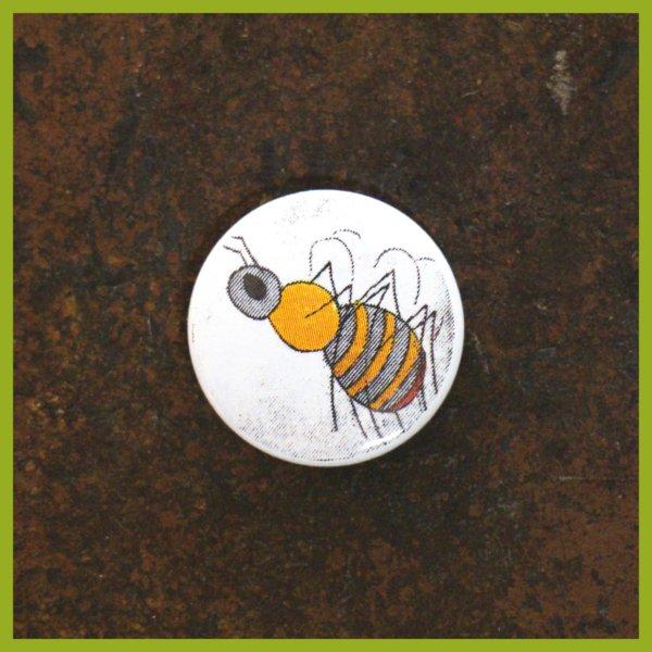 Anstecker / Anstecker / Magnet - Radierung - Ackerhummel
