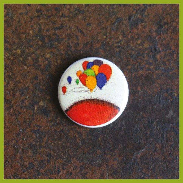 Anstecker / Magnet - Radierung - Weltenviertel - Ballons