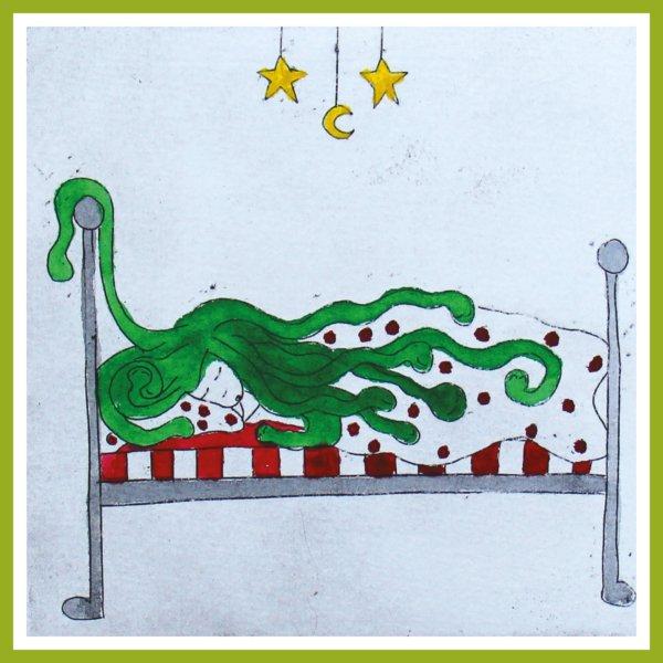 Radierung - Medusa - schlafend