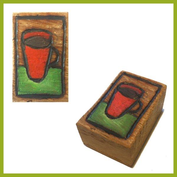 Glücksbaustein - Rote Tasse Kaffe